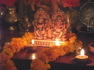 Puja at Premvarni Ashram